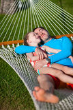 Father and daughter on vacation Stock Image