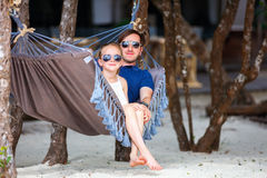 Father and daughter on vacation Stock Photography
