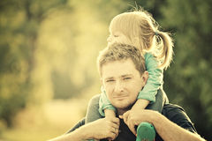 Father and daughter. Stock Photos