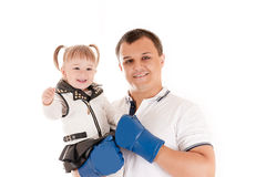 Father with a daughter Stock Photography