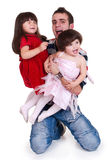 Father and daughters Royalty Free Stock Images