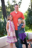 Father and Daughters Stock Image