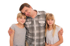 Father and daughters Stock Photos