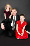 Father with daughters portrait Stock Images