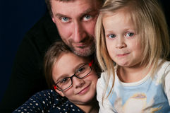 Father and Daughters Royalty Free Stock Photography