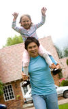 Father and daugther having fun Royalty Free Stock Photography