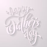 Father Day calligraphy lettering title. Royalty Free Stock Photography