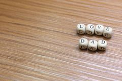 Father Day celebration on wood background top view. The Father Day celebration on wood background top view royalty free stock image