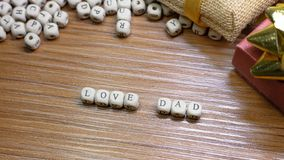 Father Day celebration on wood background top view. The Father Day celebration on wood background top view royalty free stock images