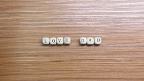 Father Day celebration on wood background top view. The Father Day celebration on wood background top view stock photos
