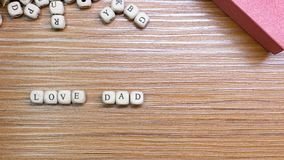 Father Day celebration on wood background top view. The Father Day celebration on wood background top view royalty free stock photo
