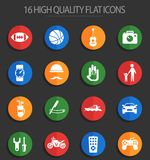 Father day 16 flat icons. Father day vector icons for web and user interface design Vector Illustration