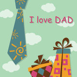 Father Day greeting card Stock Photos