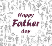 Father day greeting card Royalty Free Stock Images
