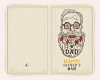 Father day greeting card Stock Images
