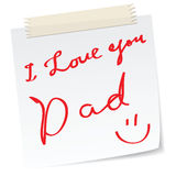 Father day greetings Stock Image