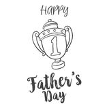 Father day hand draw design background. Vector illustration Stock Image