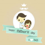 Father day and love emotion Stock Photography