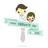 Father day and love emotion isolate Stock Images