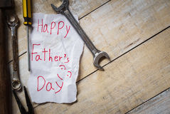 Father day with paper card Stock Photography