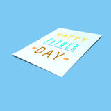 Father day on paper mock up background Stock Photo