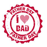 Father day stamp Royalty Free Stock Image