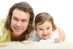 Father embraces his little daughter Royalty Free Stock Photography