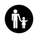 Father figure with daughter silhouette isolated icon. Vector illustration design Royalty Free Stock Image