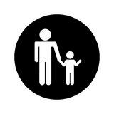 Father figure with son silhouette isolated icon. Vector illustration design Royalty Free Stock Photos