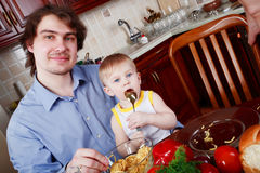 Father food Stock Photo