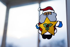 Father Frost At A Window Stock Photos