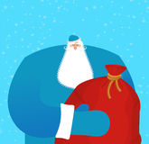 Father frost Russian Santa Claus. Great grandfather in blue suit Stock Image