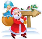 Father Frost and Snow Maiden Royalty Free Stock Images