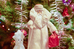 Father Frost and the Snow Maiden Royalty Free Stock Photos