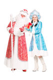 Father Frost and Snow Maiden Stock Photo