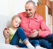 Father and frustrated daughter Stock Photo