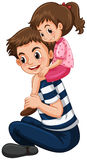 Father gives little girl piggy back ride Royalty Free Stock Image