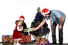 Father giving Christmas gift Royalty Free Stock Photo