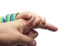 Father giving hand to a child Royalty Free Stock Photos