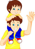 Father giving his son piggyback ride Stock Images