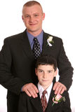 Father groom and son best man Stock Photography