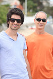 Father and grownup son Royalty Free Stock Photo