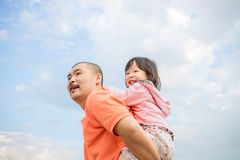 Father happy with his daughter Royalty Free Stock Image