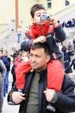 Father having son piggyback Stock Photography