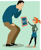 Father helping his daughter with a homework Royalty Free Stock Photography