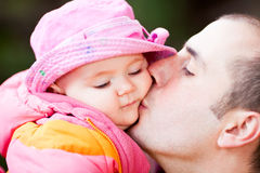 Father and her baby Stock Image