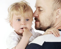 Father and her baby Royalty Free Stock Images