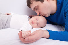 Father with his baby boy Royalty Free Stock Photos