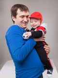 Father with his baby boy Royalty Free Stock Images