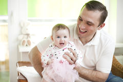Father and his baby dauther Royalty Free Stock Photo